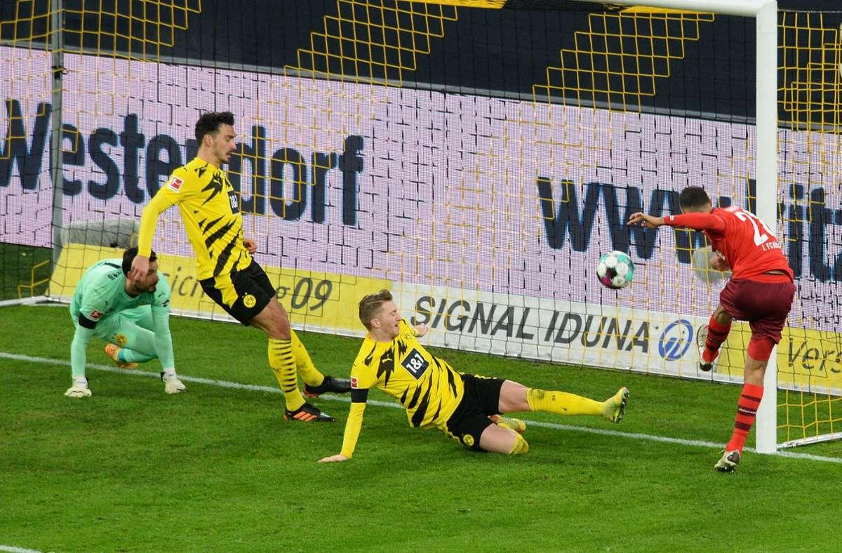 Kölns Ellyes Skhiri erzielte zwei Tore gegen den BVB. Foto: dpa/Uwe Kraft