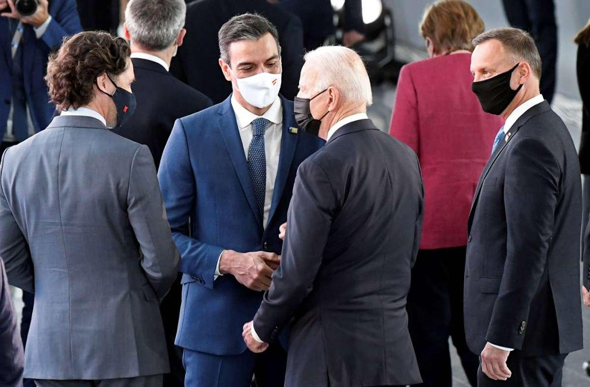 Es ist das erste Gipfeltreffen mit US-Präsident Joe Biden. Foto: imago images/Agencia EFE/Horst Wagner