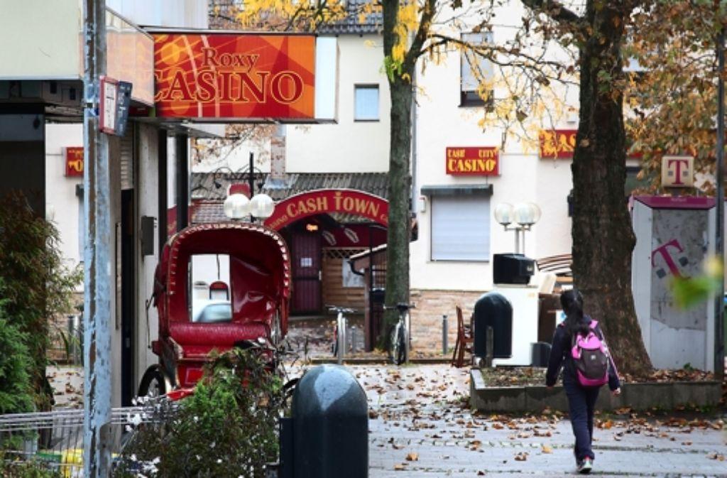 Rund um das Marstallcenter in Ludwigsburg häufen sich die Kasinos – mit negativen Auswirkungen auf das gesamte Stadtviertel. Foto: factum/Granville