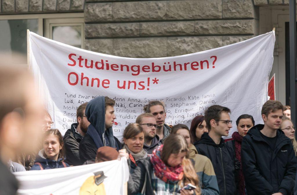 In zahlreichen Unistädten wurde gegen die Hochschulmaut demonstriert. Foto: Lichtgut/Verena Ecker
