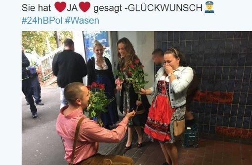 Heiratsantrag beim Volksfest via Twitter verkündet