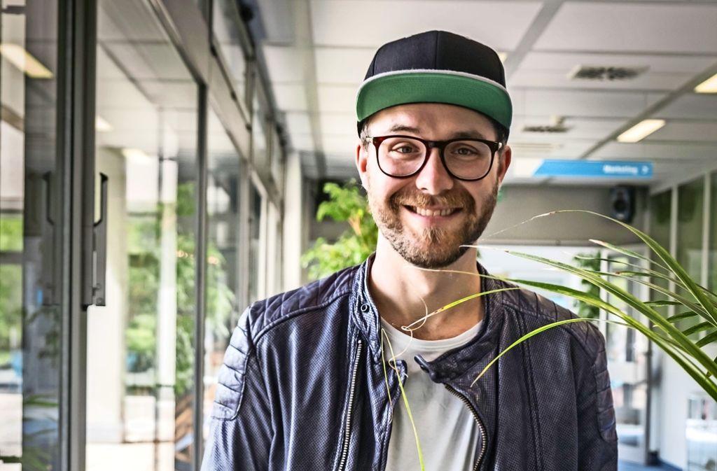 Vor seinem Privatkonzert  für Gewinner von Antenne 1 hat Mark Forster am Mittwoch im Pressehaus Stuttgart vorbeigeschaut Foto: Lichtgut/Zweygarth