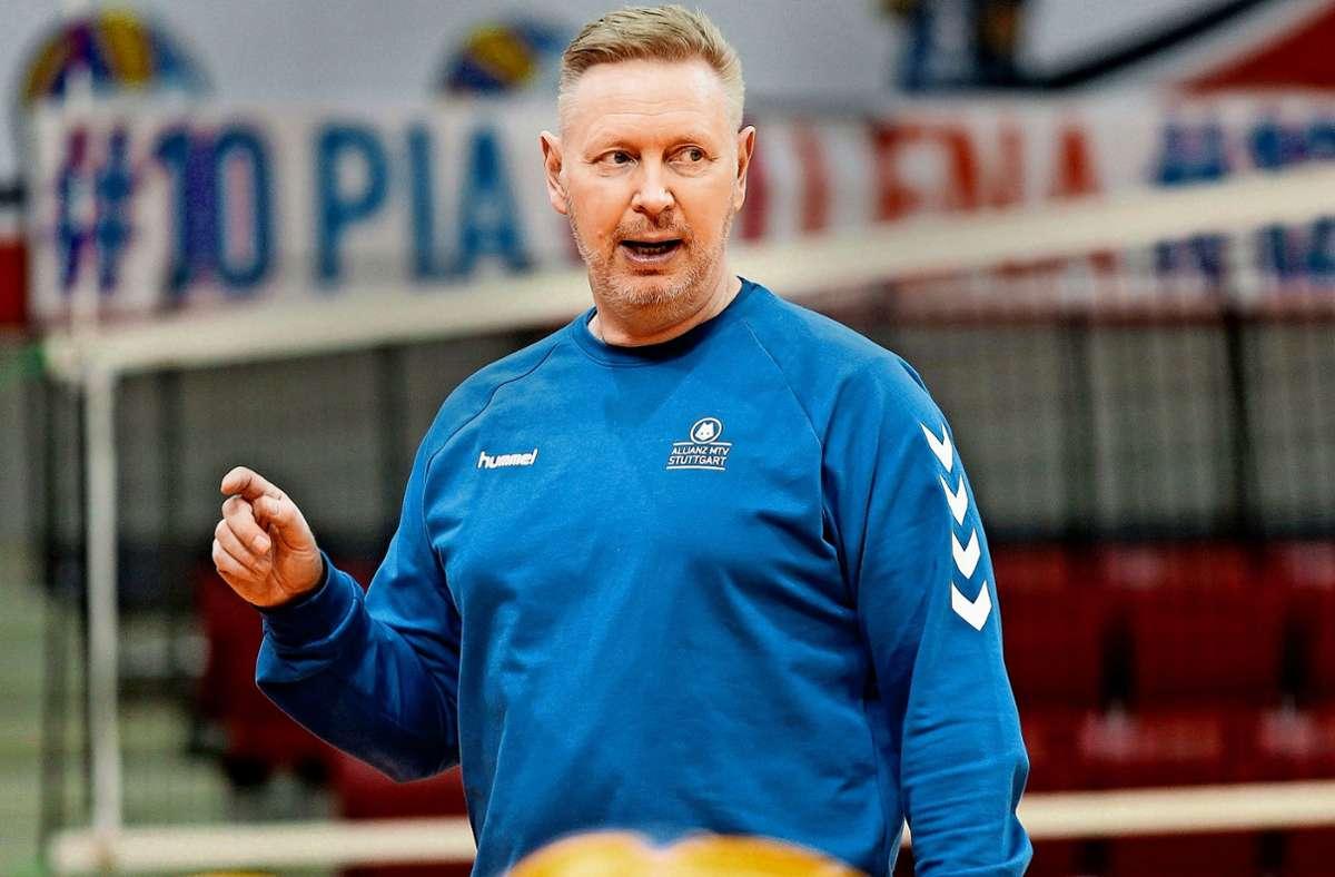 Sagt, was er denkt: Tore Aleksandersen, der Coach von Volleyball-Bundesligist Allianz MTV Stuttgart. Foto: Pressefoto Baumann/Hansjürgen Britsch