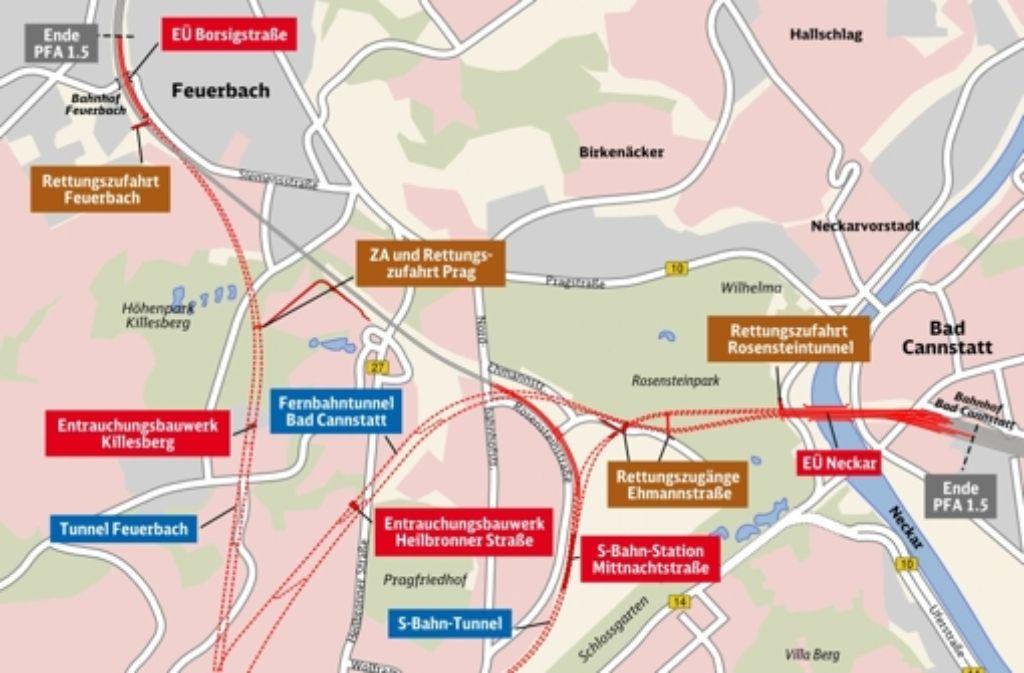 So sehen die Stuttgart-21-Pläne für Bad Cannstatt aus. Foto: Deutsche Bahn