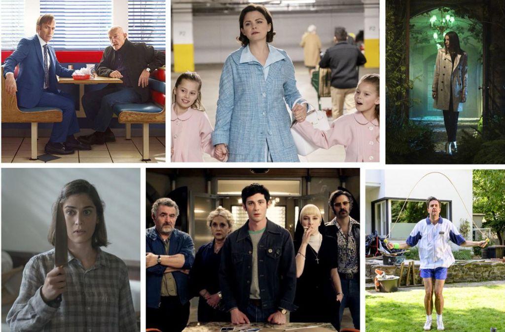 "Neuer Serienstoff im Februar: ""Better call Saul"", ""The Twilight Zone"", ""Locke & Key"", ""Pastewka"", ""Hunters"", ""Castle Rock"" (von links oben im Uhrzeigersinn) Foto: Netflix (2), Amazon (2), CBS, Starzplay"