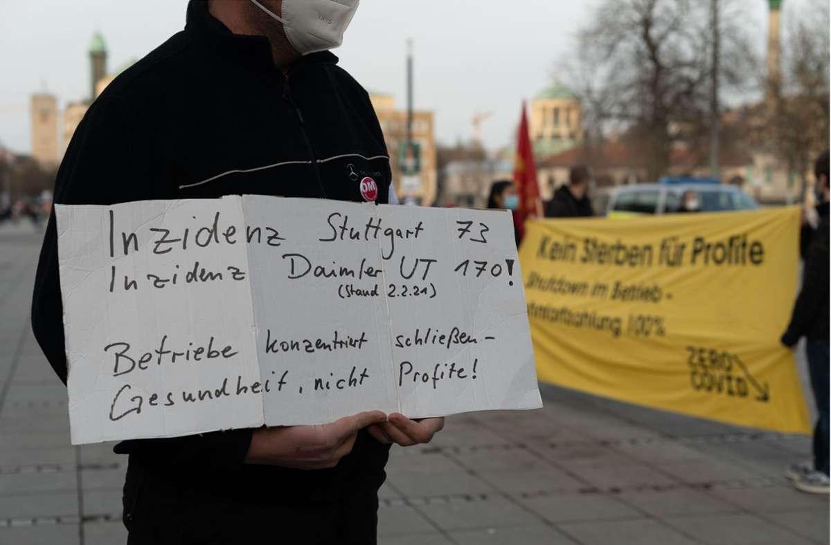 Die Teilnehmer forderten einen Lockdown, der auch für die Wirtschaft gilt. Foto: LICHTGUT/Leif Piechowski