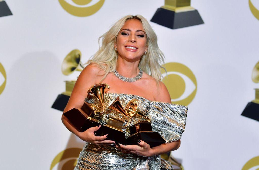 Mehr Grammys als Arme, um sie festzuhalten: Lady Gaga. Foto: AFP