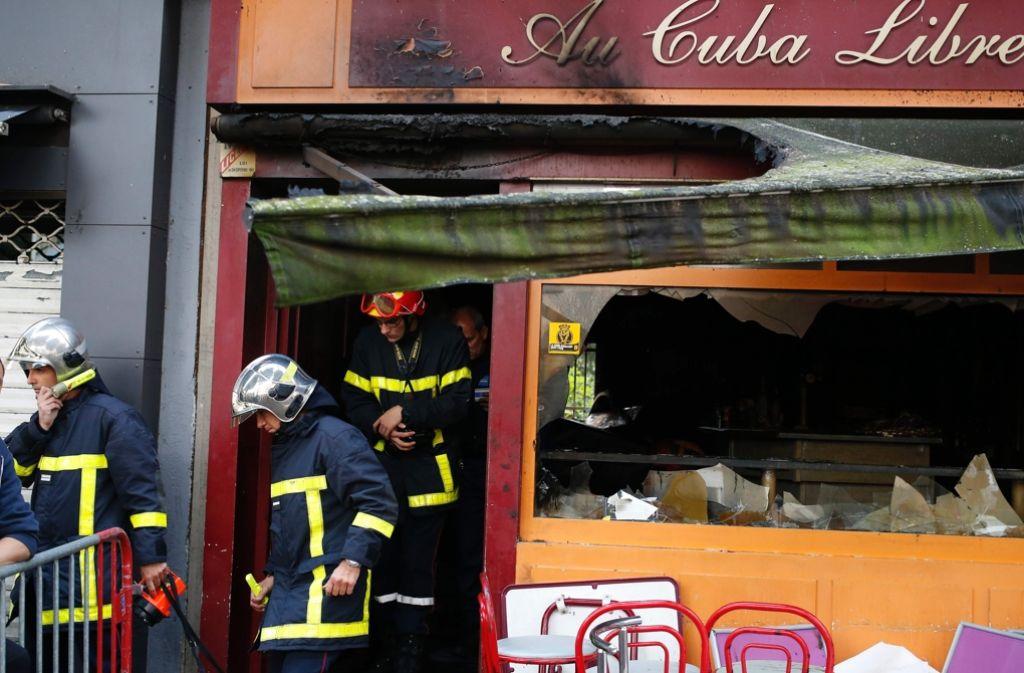 In der Bar Cuba Libre im Norden Frankreichs hat es gebrannt. Foto: AFP