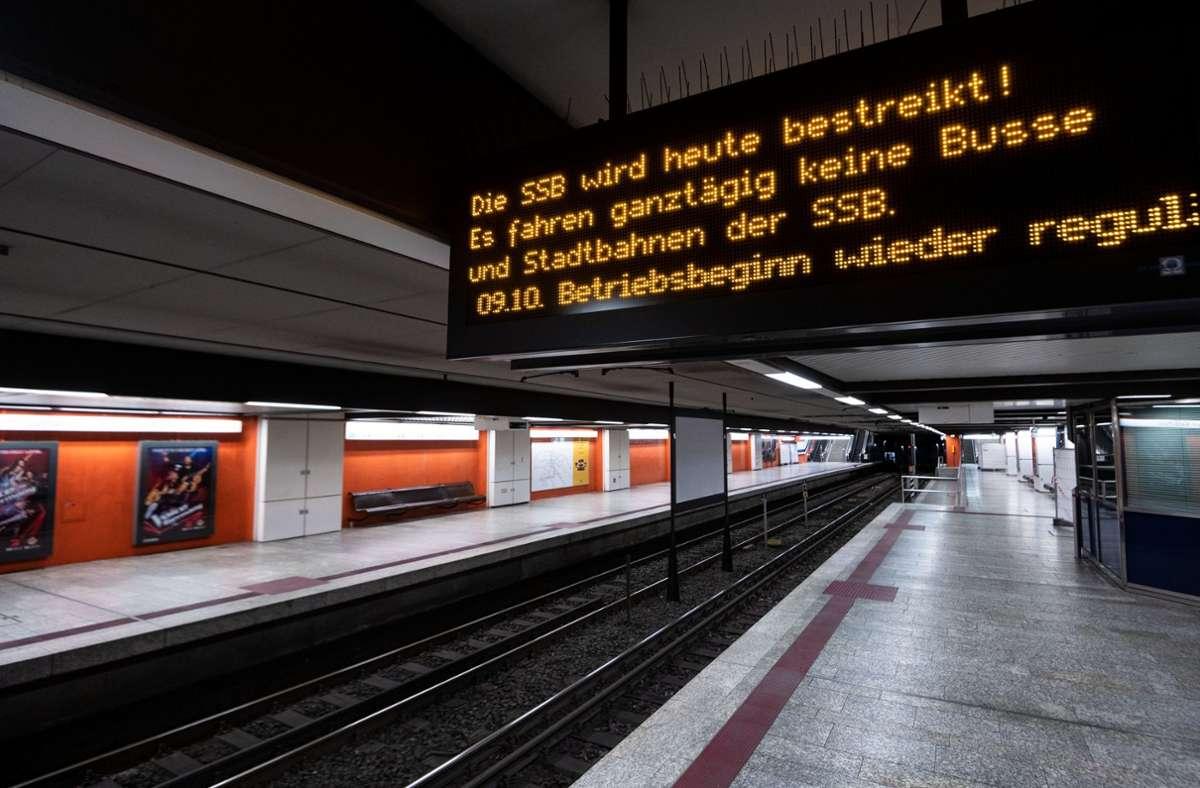 Am Donnerstag gab es einen Warnstreik im öffentlichen Verkehr. Foto: dpa/Marijan Murat