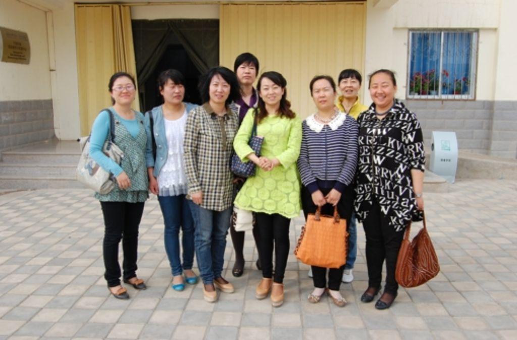 Meine Englisch-Schülerinnen in Jiuquan College Foto: Ulla Lachauer