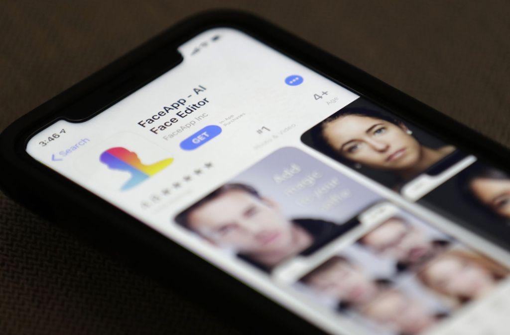 """So viel Spaß die """"FaceApp"""" auch macht, es gibt Bedenken von  Datenschützern. Foto: AP"""