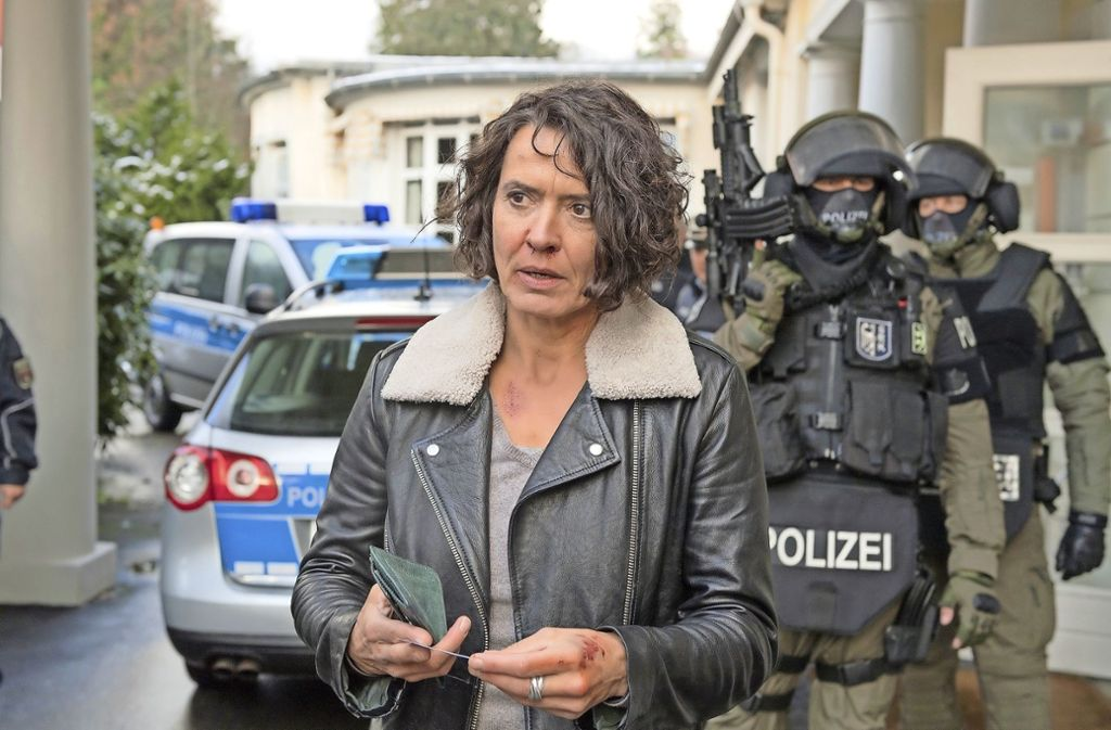Höchste Sicherheitsstufe: Odenthal (Ulrike Folkerts) will zum Empfang des US-Staatssekretär. Foto: SWR