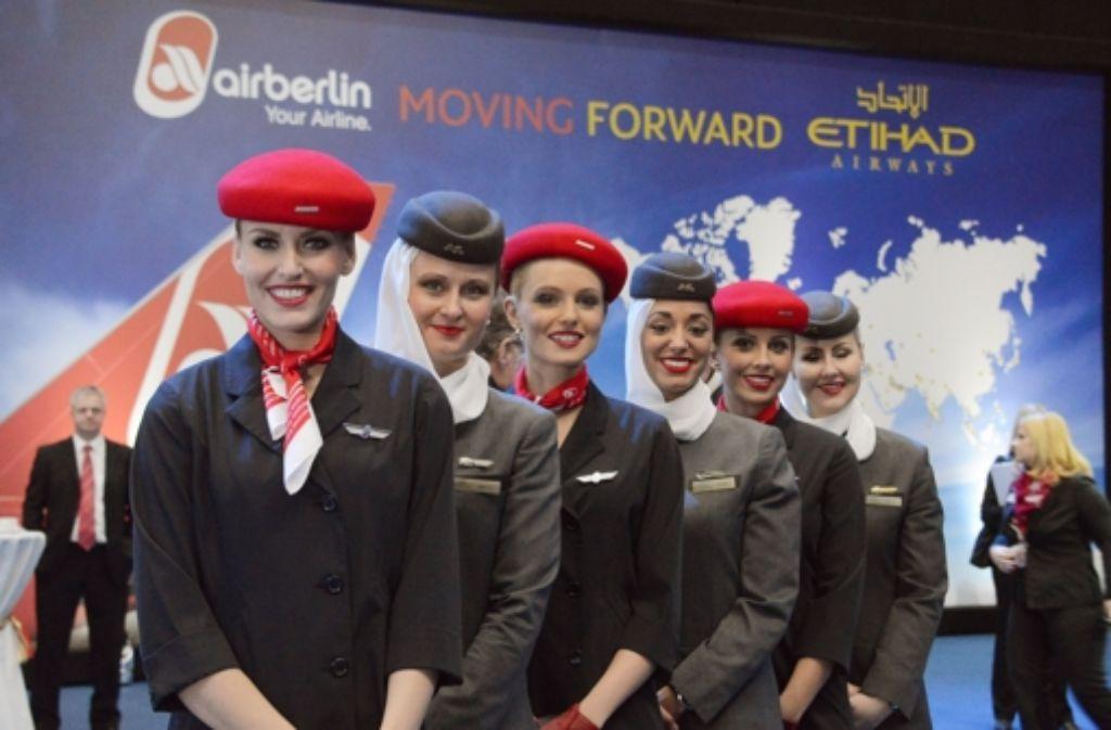 Air Berlin und Etihad bauen ihr gemeinsames Streckennetz aus. Foto: dpa