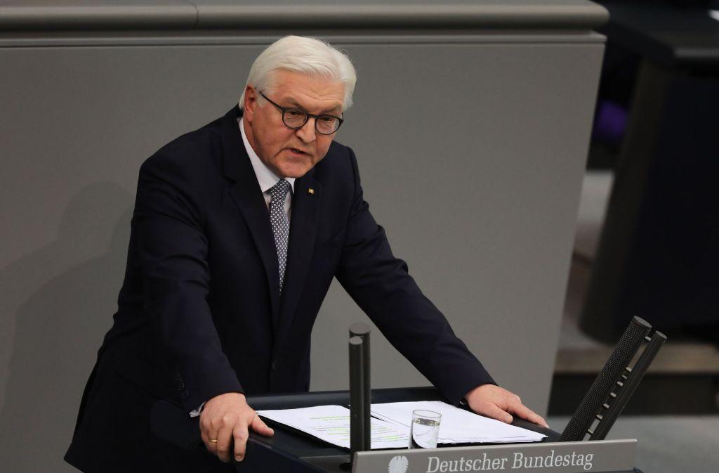 Frank-Walter Steinmeier fordert, mutig zu sein. Foto: dpa
