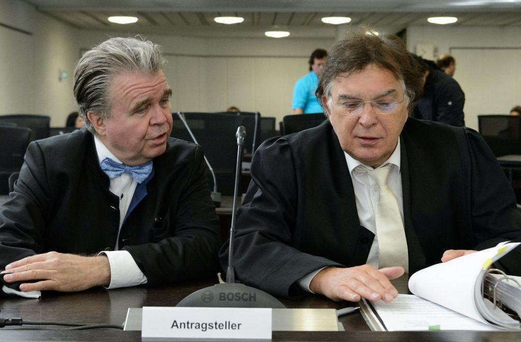 Heinrich Fiechtner (links) mit seinem Anwalt Reinhard Löffler Foto: dpa