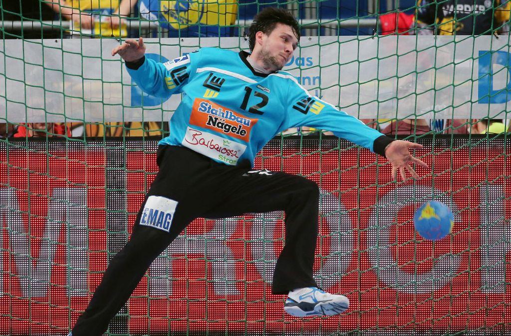 Hielt Frisch Auf mit seinen Paraden im Spiel: Der starke Keeper Daniel Rebmann. Foto: Baumann
