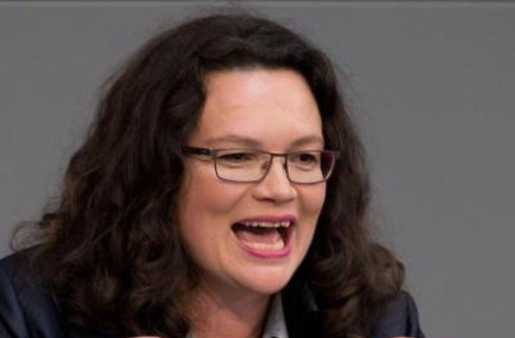 Andrea Nahles sang das Pipi-Langstrumpf-Lied im Bundestag. Foto: dpa