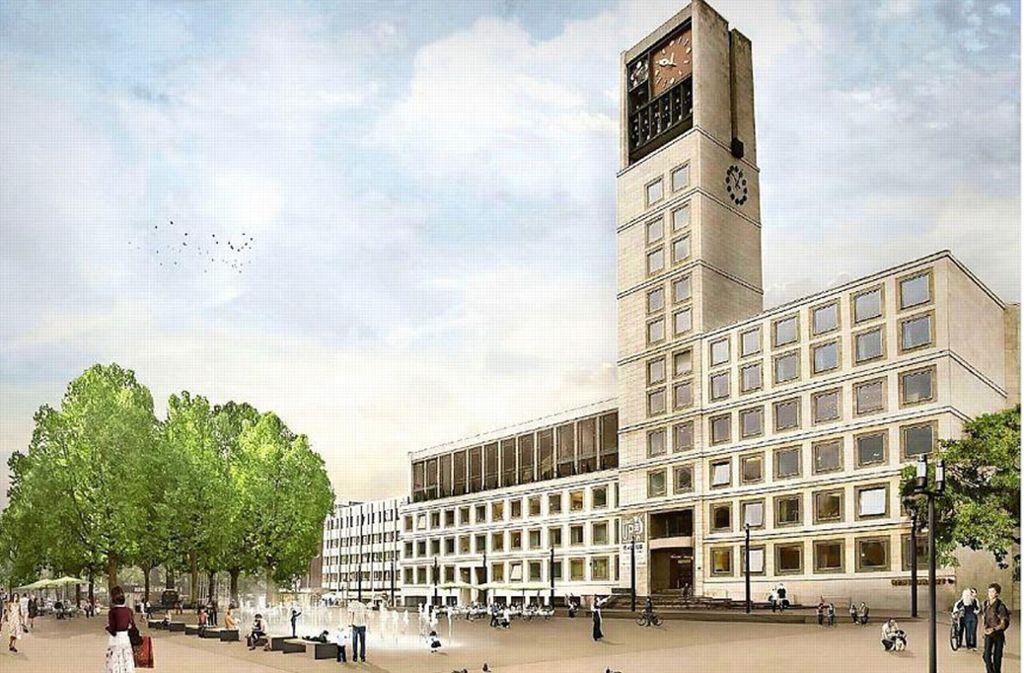 So soll der Marktplatz in Zukunft aussehen. Foto: Gauder und Gehring Landschaftsarchitekten