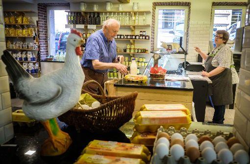Eier und Milch frisch aus dem Stall