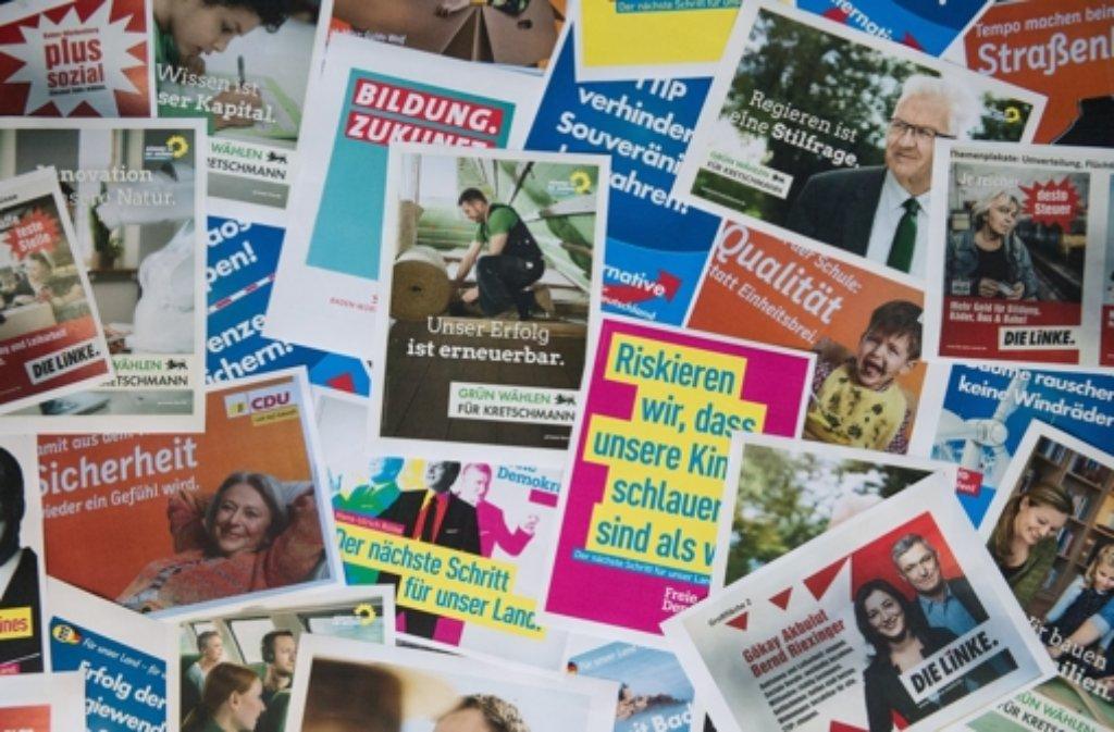 Am Wahlsonntag könnten neue Regierungskonstellationen möglich werden. Foto: dpa