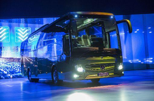 Weltpremiere des Mercedes Tourismo in Brüssel. Foto: Daimler