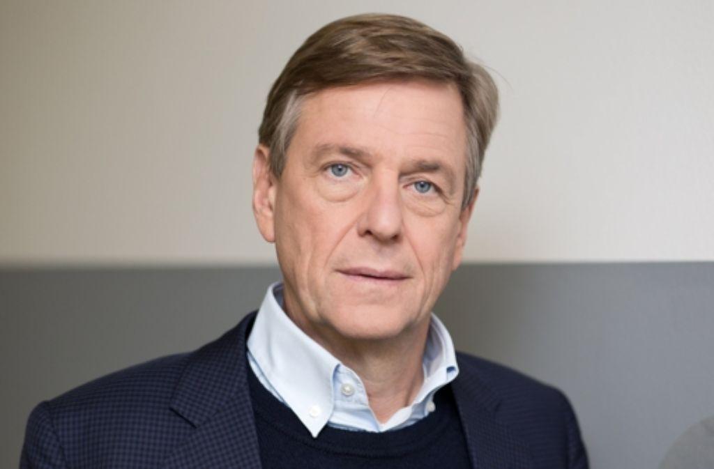 """Normalerweise moderiert Claus Kleber das """"heute-journal"""", am Dienstag sprach er zum ersten Mal an der Uni Tübingen. Foto: dpa"""