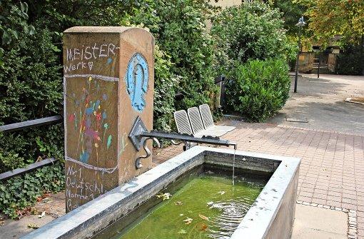 Schmierereien auf dem Jakobsbrunnen