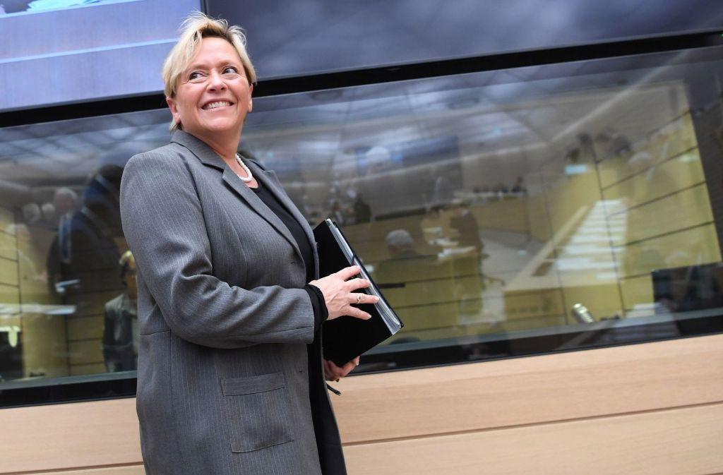 Kultusministerin Susanne Eisenmann tauscht den Landtag mit dem Messegelände Foto: dpa