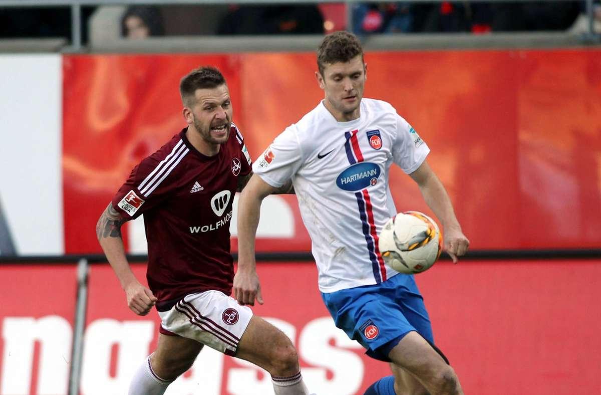 Tim Göhlert (rechts) spielte bis 2016 in Heidenheim. (Archivbild) Foto: vimago/Zink/imago sportfotodienst