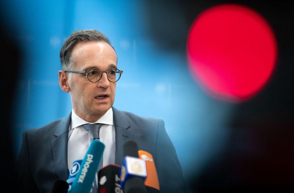 Heiko Maas findet deutliche Worte nach Attacken gegen Franzosen im Grenzgebiet. Foto: dpa/Bernd von Jutrczenka