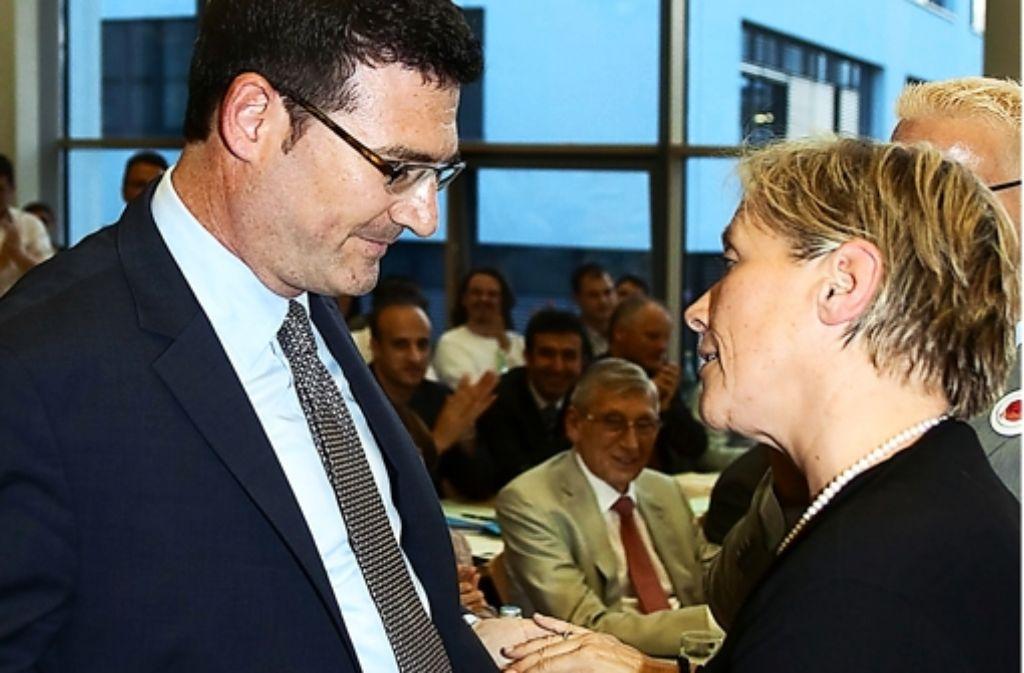 Stefan Kaufmann und Susanne Eisenmann haben ihren Streit beigelegt. Foto: Rudel
