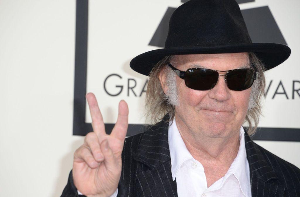 Neil Young will US-Staatsbürger werden. Foto: AFP/Robyn Beck