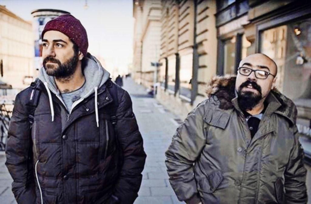 Winterreisende: Fadi (links) und Tarek unterwegs in Berlin Foto: 3Sat