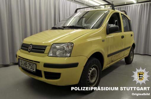 Wer hat den gelben Fiat Panda gesehen?