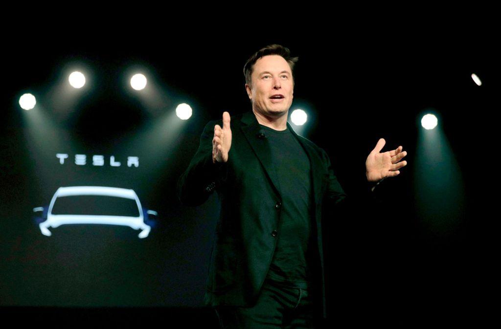 Tesla-Chef  Musk nennt als Grund für den Standort Deutschland auch: Foto: dpa/Jae C. Hong