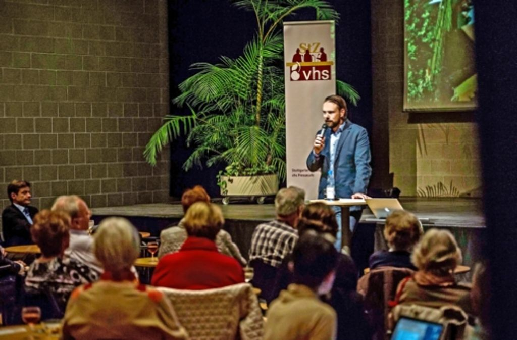 Sven Hahn traf mit seinen Ausführung auf großes Interesse. Foto: Lichtgut/Max Kovalenko