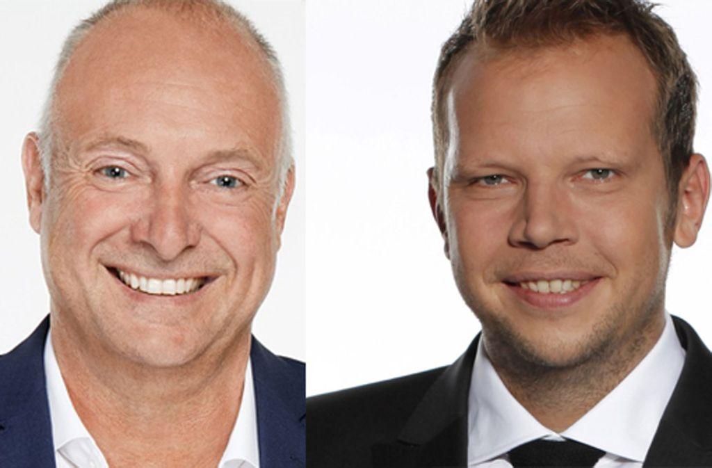 Frank Buschmann und Wolff-Christoph Fuss kommentieren seit 2016 das Videospiel Fifa. Foto: Sky/Fotomontage Redaktion