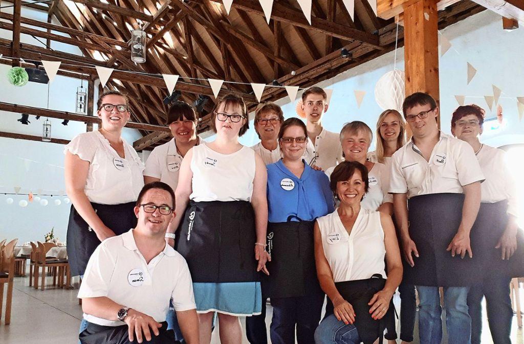 Das Service-Team der  Lebenshilfe freut sich auf Aufträge. Foto: privat