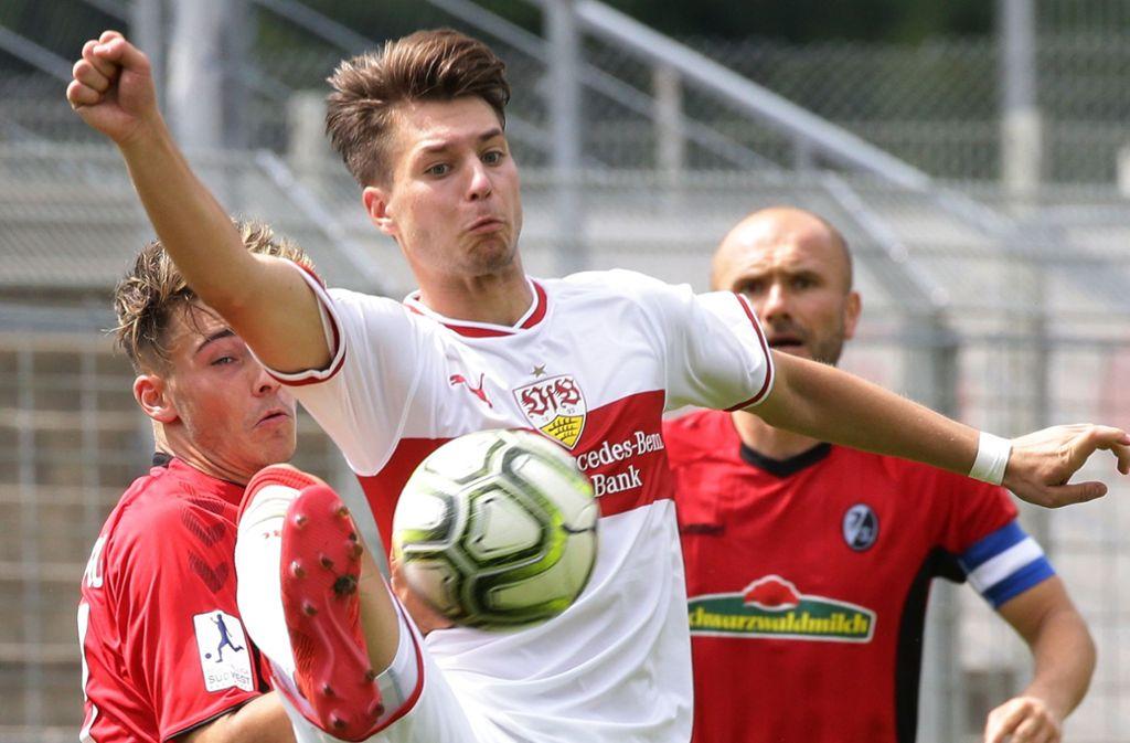 Zwei Tore für den VfB II in Mainz: der 20-jährige David Tomic. Foto: Baumann