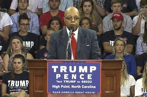 Schwarzer Held der Bürgerrechtsbewegung unterstützt Donald Trump