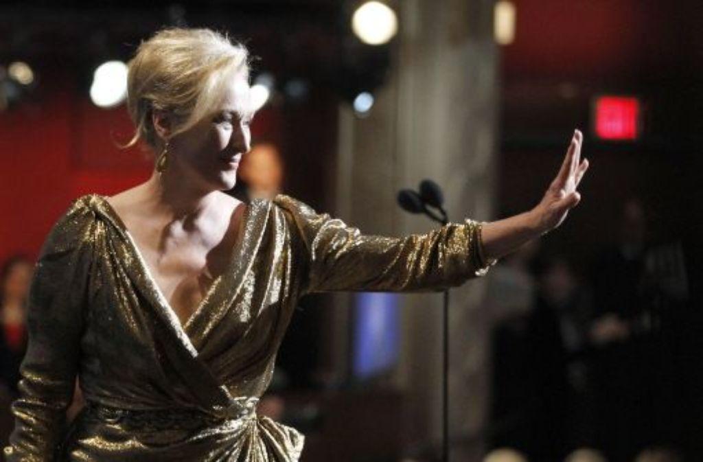 Ganz in Gold kam Meryl Streep zur Oscar-Verleihung. Foto: AP