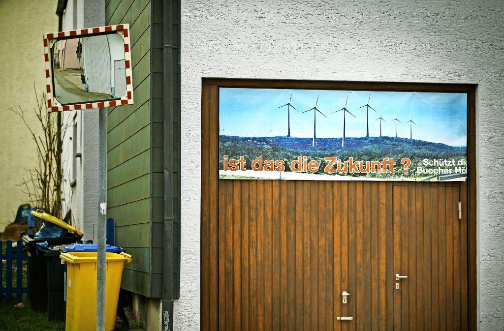 Die Bürgerinitiative hat von Anfang an gegen Windkraft auf der Buocher Höhe mobil gemacht. Foto: Gottfried Stoppel/Archiv