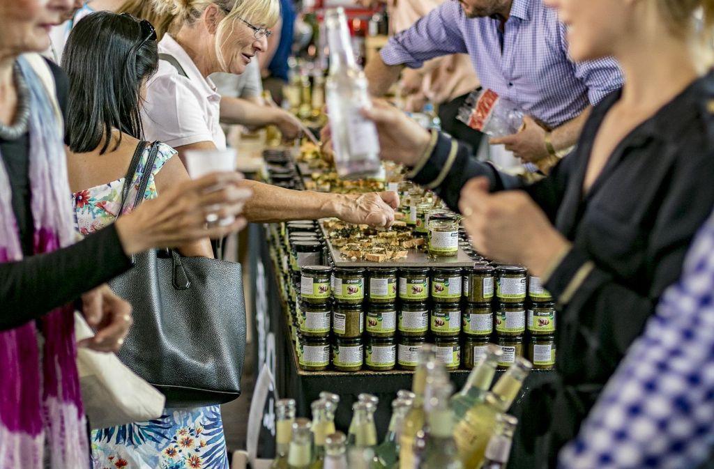 Die Besucher des Foodist Fine Food Markets können die Produkte natürlich auch probieren. Foto: 7aktuell.de/Andreas Friedrichs