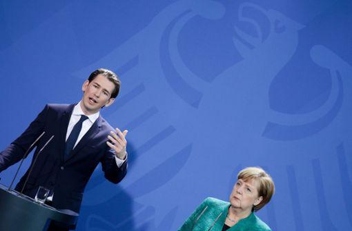 Österreichs junger Kanzler trifft Deutschlands alte Kanzlerin