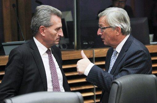 Juncker verpasst Oettinger Maulkorb