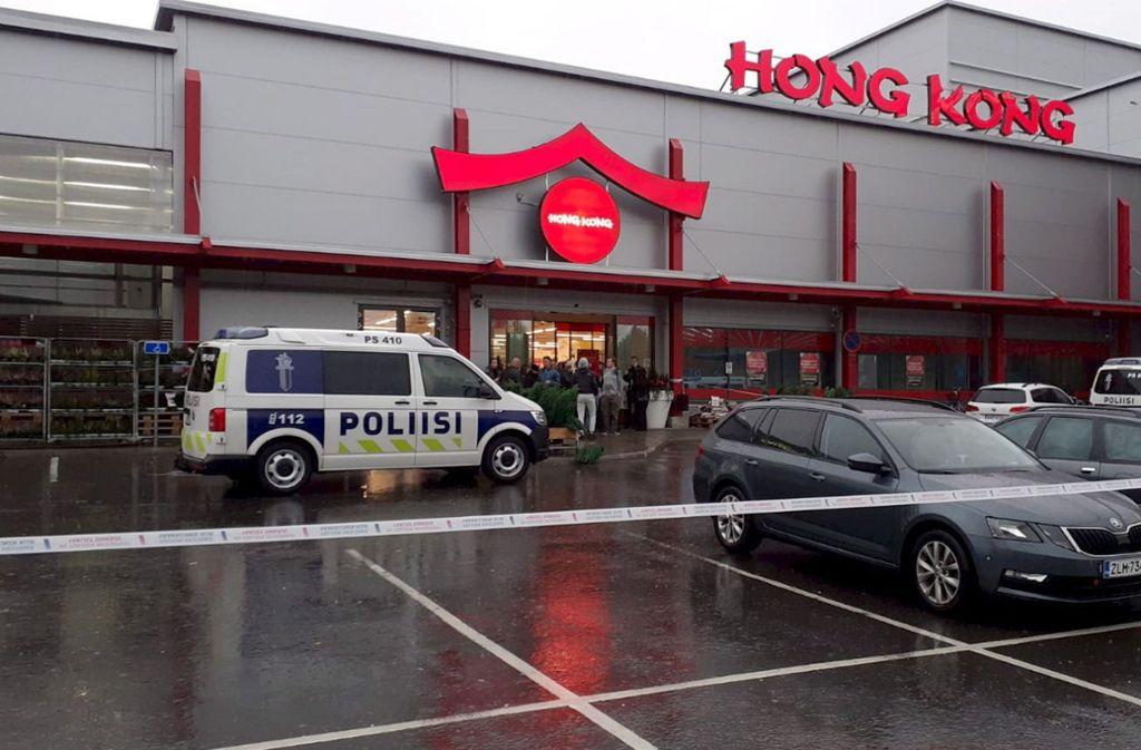 In einer Berufsschule in diesem Einkaufszentrum kam es zu der Bluttat. Foto: dpa/Jaakko Vesterinen