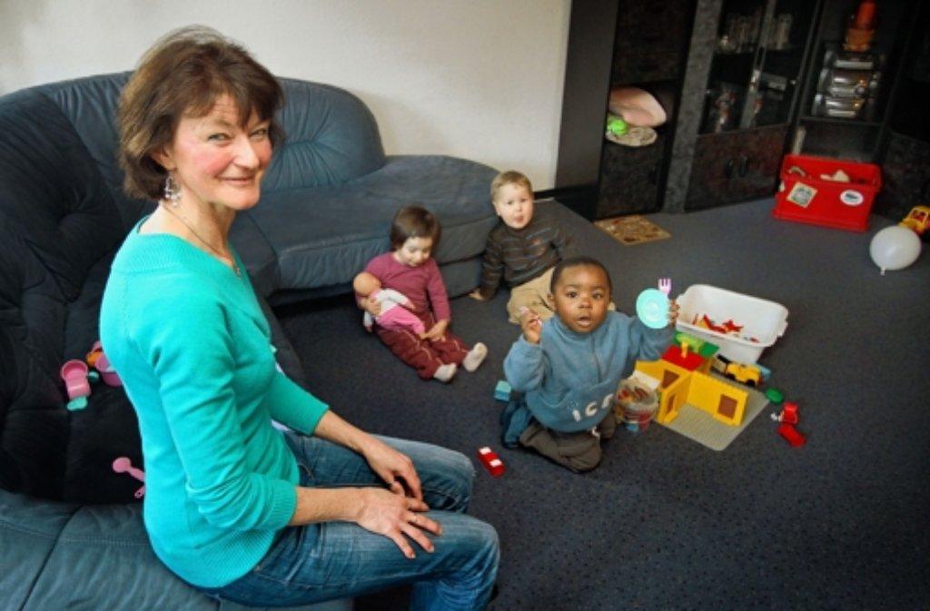 Steffi Kuhn ist Tagesmutter in Leonberg. Foto: factum/Granville