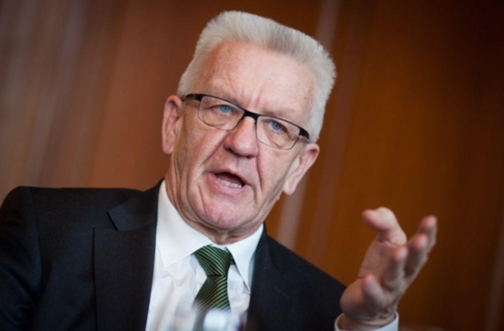 Winfried Kretschmann sagt, die die Kanzlerin habe gute Arbeit geleistet. Foto: dpa