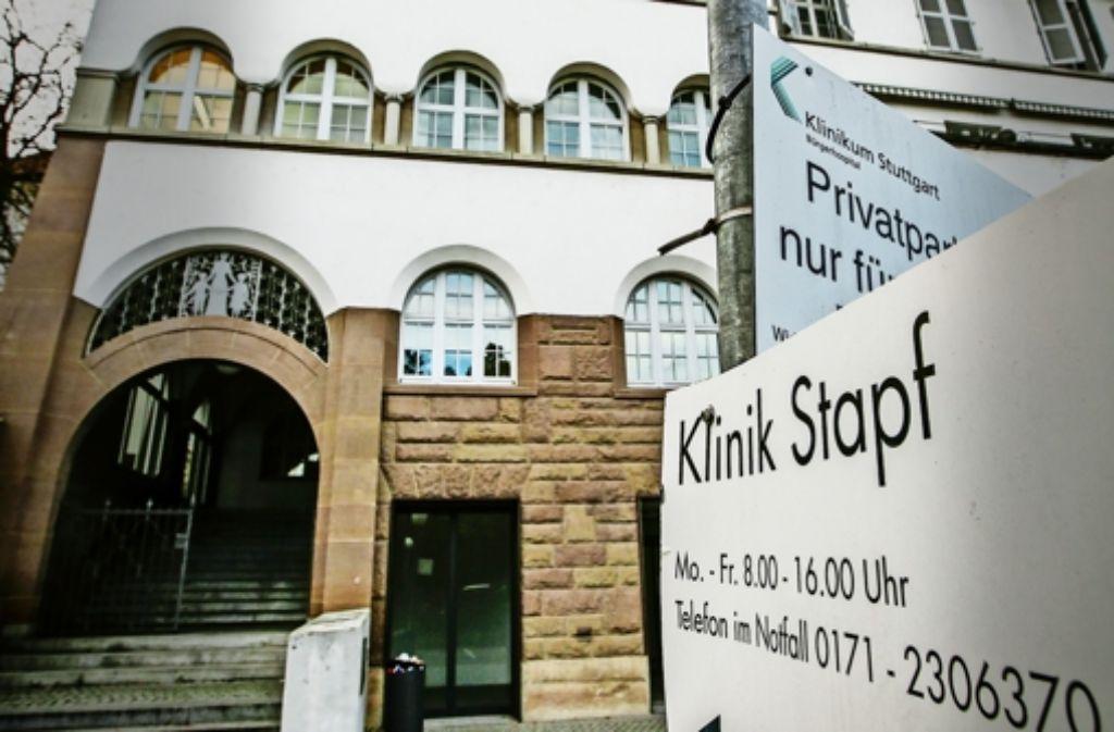 Die Klinik Stapf wird nach ihrer Schließung in Stuttgart keine neue Adresse mehr haben. Foto: Lichtgut/Leif Piechowski
