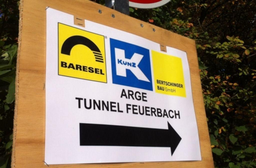 Über den Anstich des Feuerbacher Tunnels informierte die Bahn erst im Nachhinein. Foto: StZ